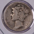1927-D Mercury Dime.  Good Circulated Coin.  Store Sale # 8644