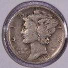 1928-D Mercury Dime.  Very Good Circulated Coin.  Store Sale # 8650