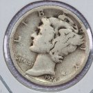 1928-S Mercury Dime.  Good Circulated Coin.  Store Sale # 8654