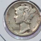 1929-S Mercury Dime.  Good Circulated Coin.  Store Sale # 8658