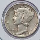1937-D Mercury Dime. Very Good Circulated Coin.  Store Sale #8688