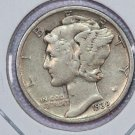 1938 Mercury Dime.  Very Good Circulated Coin. Store Sale # 8692