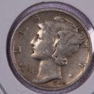 1940-S Mercury Dime.  Very Good Circulated Coin.  Store Sale #8708.