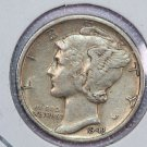 1943-D Mercury Dime. Very Good Circulated Coin.  Store Sale #8726.