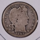 1893-O Barber Quarter.  Good Circulated Coin.  Store Sale #8908
