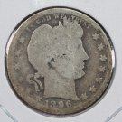 1896-O Barber Quarter.  Good Circulated Coin.  Store Sale #8926.