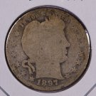 1897-O Barber Quarter.  About Good Circulated Coin.  Store Sale #8934.