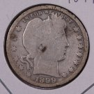 1899-O Barber Quarter.  Good Circulated Coin.  Cleaned.  Store Sale #8944.