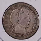 1900 Barber Quarter.  Very Good Circulated Coin.  Store Sale #8948.