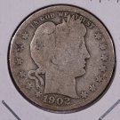 1902-S Barber Quarter.  Good Circulated Coin.  Store Sale #8962.
