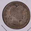1903-S Barber Quarter.  Good Circulated Coin.  Highly Collectible Date.  Store Sale #8968