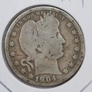 1904 Barber Quarter.  Good Circulated Coin.  Store Sale # 6970.