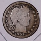 1905 Barber Quarter.  Very Good Circulated Coin.  Store Sale # 6974.