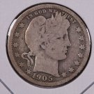 1905-O Barber Quarter.  Good Circulated Coin.  Store Sale # 6976.
