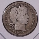 1905-S Barber Quarter.  Good Circulated Coin.  Store Sale #6978.