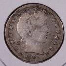 1907-D Barber Quarter.  Good Circulated Coin.  Store Sale #6988.
