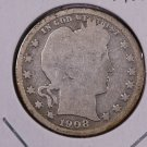 1908-S Barber Quarter.  Good Circulated Coin.  Store Sale #9000