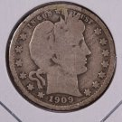 1909-O Barber Quarter.  Good Circulated Coin. Store Sale #9006.