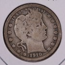 1910 Barber Quarter.  Good Circulated Coin.  Store Sale #9014.