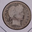 1912-S Barber Quarter.  Good Circulated Coin.  Store Sale #9028.