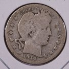 1914 Barber Quarter.  Good Circulated Coin.  Store Sale #9034.