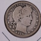 1915 Barber Quarter.  Good Circulated Coin.  Store Sale #9042.