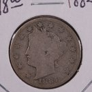 1884 Liberty Nickel.  Good Circulated Coin.  Store Sale #9058.