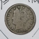 1906 Liberty Nickel.  Very Good Circulated Coin.  Store Sale #9064.