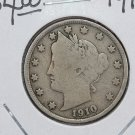 1910 Liberty Nickel.  Very Good Circulated Coin.  Store Sale #9070