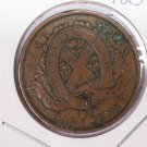 1837 Canada Half Penny, Bank Token.  Good Circulated Coin. Store Box #9216.