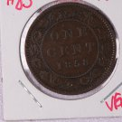 1858 Canada Large Cent.  Very Good Circulated Coin.  Store Sale #9232.