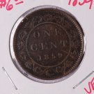 1859 Canada Large Cent.  Circulated Coinage.  V.F.  Store sale #9243