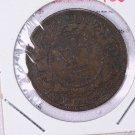 1861 Canada New Brunswick, Copper.  Large Cent.  Fine Circulated Coin. #9259.