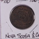 1864 Canada, Nova Scotia Half Cent.  Choice Brown UN-Circulated Coin.  Store #9267.