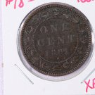 1881-H Canada, Large Cents.  Extra Fine Circulated Coin.  Store Sale # 9291.