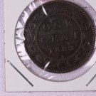 1882-H Canada Large Cent.  V.F. Circulated Coin.  Store Sale #9301