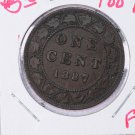 1887 Canada Large Cent. Fine Circulated Coin.  Store Sale 9325.