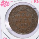 1888 Canada Large Cent.  Choice About UN-Circulated Coin.  Store Sale #9335.
