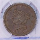 1849 Half Cent.  Choice PCGS Graded MS-63, Brown.  Nice Problem Free Coin.