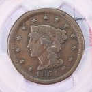 1851/81 Large Cent.  Nice Over Date Coin.  Authentic PCGS Holder.  Affordable Coin's.