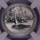 2018-S Silver, Voyageurs National Park Quarter, REVERSE PROOF,  NGC PF-70.
