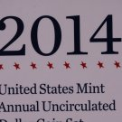 2014 United States Mint Annual Uncirculated Dollar Coin Set.  Fresh, Original Package.