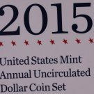 2015 United States Mint Annual Uncirculated Dollar Coin Set.  Original U.S. Mint Package.