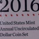 2016 United States Mint, Annual Uncirculated Dollar Coin Set.  Original U.S. Mint Package.