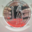 2013 National Park Quarter. 5 Troy Ounce, Silver, Perry Victory.  Peace Memorial. MS-69.