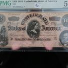 1864 Southern States Currency.  $100 Bill.  PMG Graded AU-53  T-65. Nice Eye Appeal.
