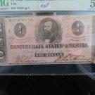 1862 Confederate States Of America, Currency. $1 Bill. T-55. PMG Graded, AU-55.
