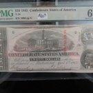 1863 Confederate States Of America, Currency. $20 Bill, T-58. PMG Graded CU-64, EPQ.