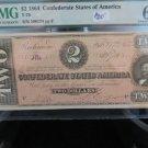1864 Civil War, Currency.  Wow $20 In High Grade. PMG CU-63.