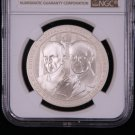2013=W $1, 5 Star Generals Commemorative Dollar Coin, Perfect 70 Strike, With Box.